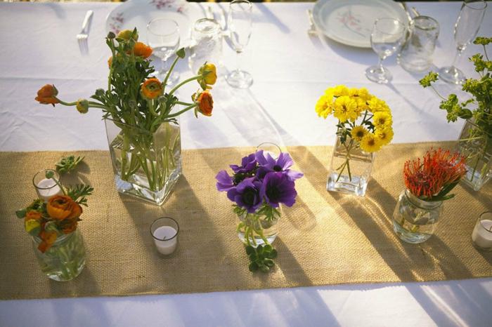Hochzeit-tischdekoration-gelb-orange-blumen