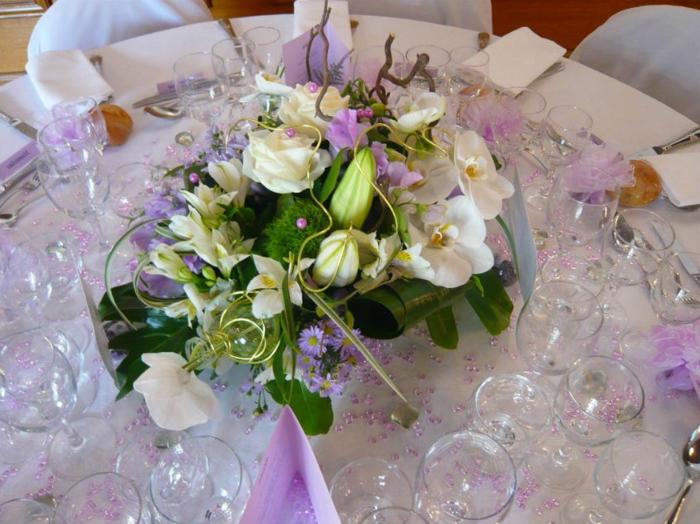 Hochzeit-tischdekoration-glas
