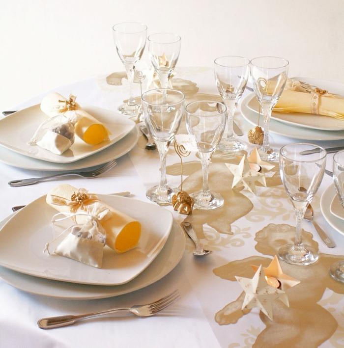 Hochzeit-tischdekoration-gold