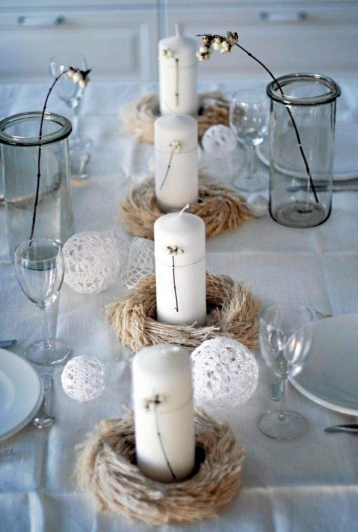 Hochzeit-tischdekoration-mit-kerzen-kugeln
