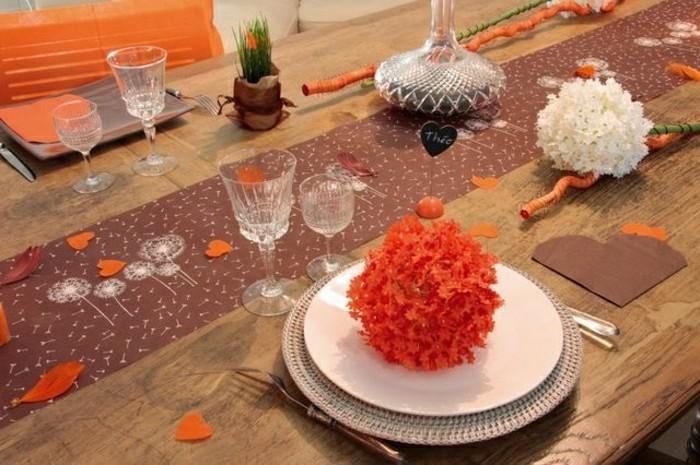 Hochzeit-tischdekoration-orange-braun