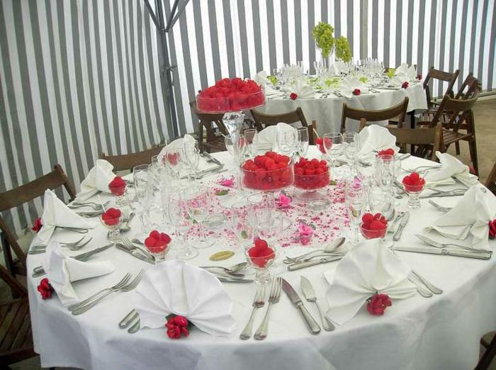 Hochzeit-tischdekoration-servietten