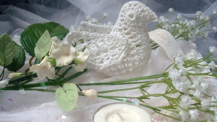 Hochzeit-tischdekoration-taube