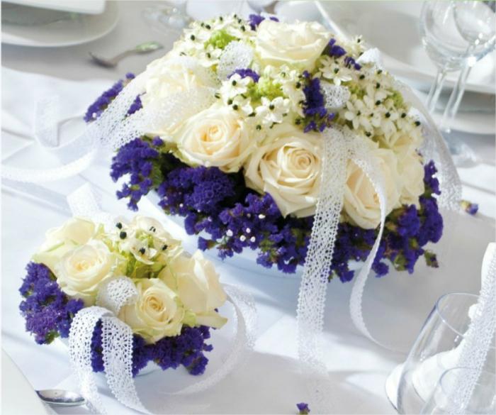 Hochzeit-tischdekoration-weiße-rose