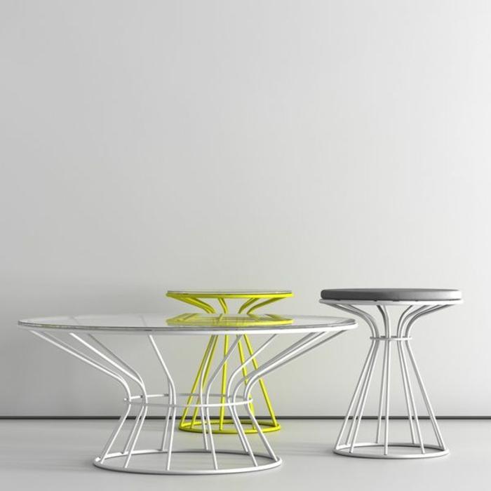 Kaffeetisch-Hocker-Metall-Struktur-kreatives-Design