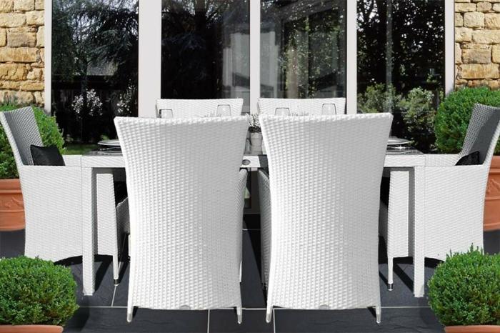 Möbel-aus-Polyrattan-esszimmer-stühle
