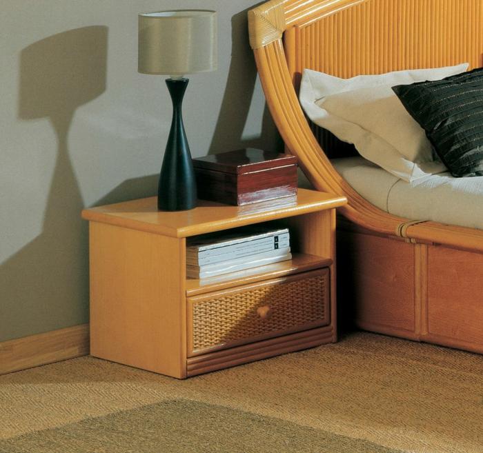 Möbel-aus-Polyrattan-nachttisch-lampe