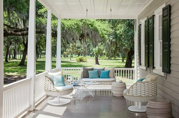 Möbel-aus-Polyrattan-veranda-hängesofa