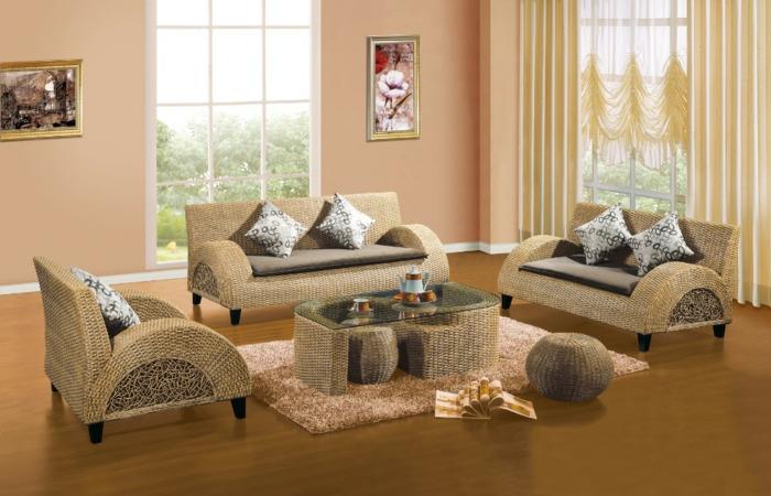 Möbel-aus-Polyrattan-wohnzimmer-elegant