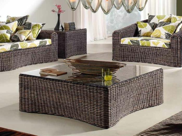 Möbel-aus-Polyrattan-wohnzimmer-gestaltung