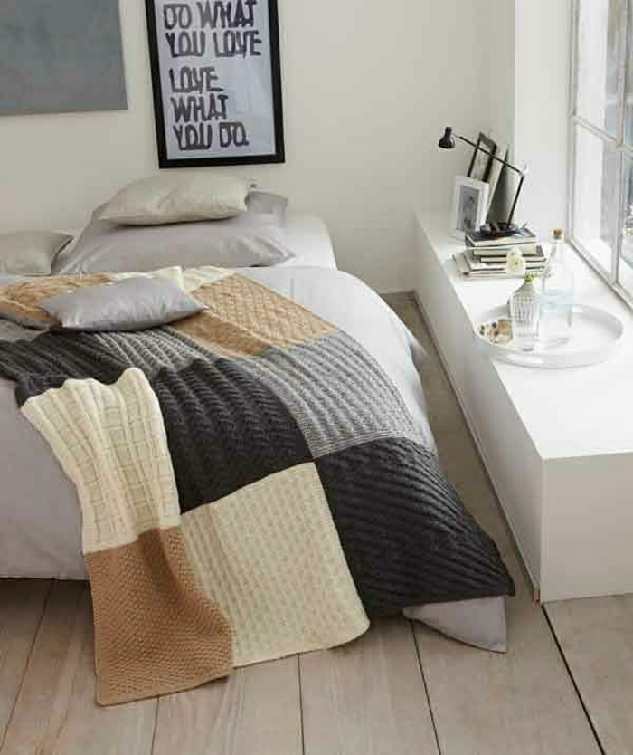 Knitting Patterns For Bed Throws : 40 wunderschone Modelle Tagesdecke