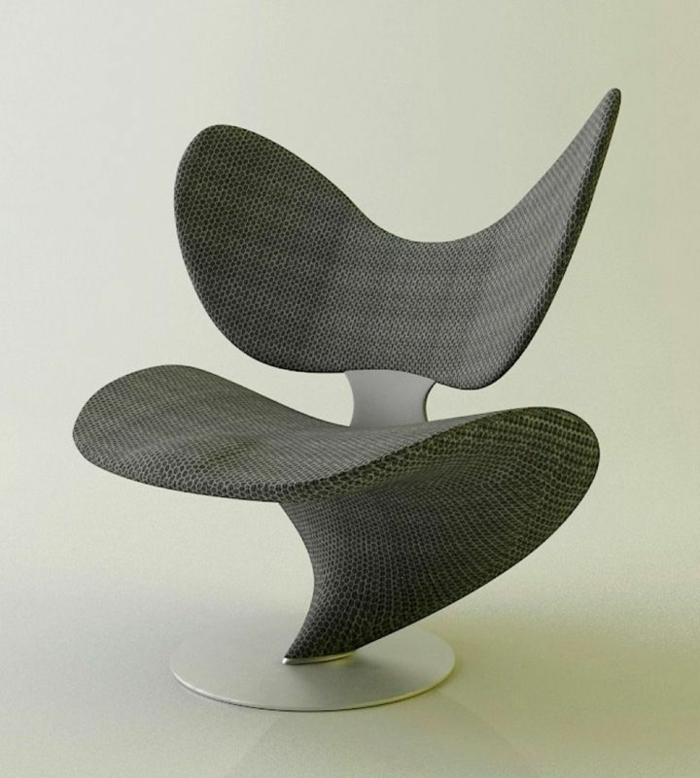 Roberto-Pennetta-Stuhl-Textil-Metall-interessantes-Design-einmalig