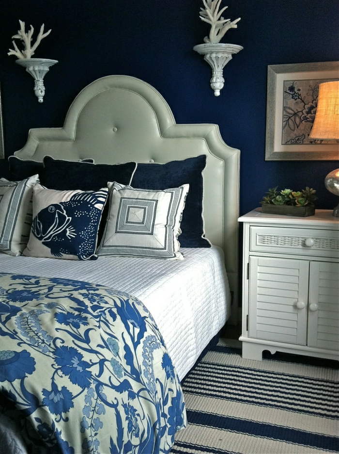 Schlafzimmer-Meeres-Motive-warme-Bettdecke-feines-Design