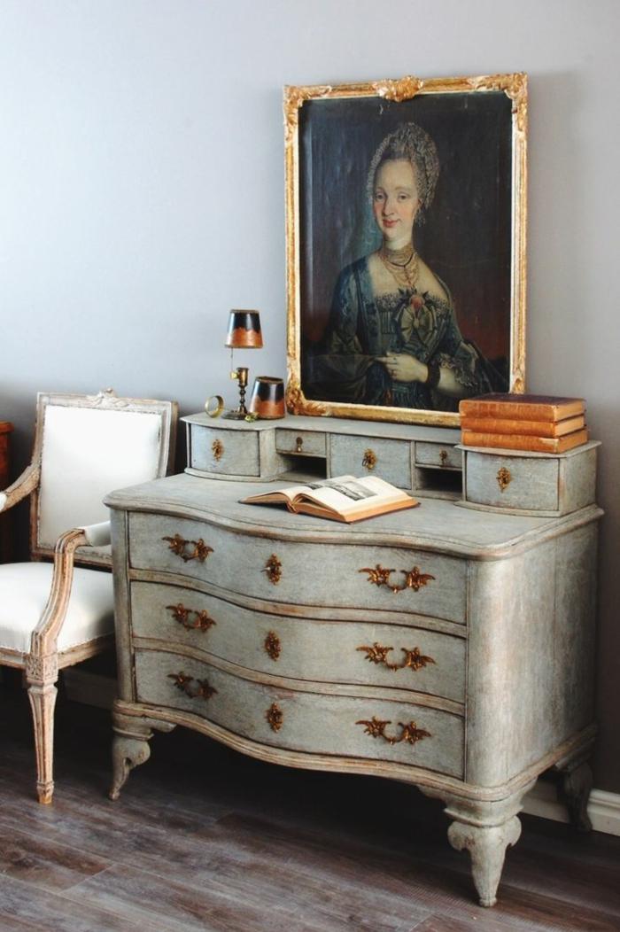 Schwedischer Barock Antike Kommode Schubladen Großartig Prachtvoll