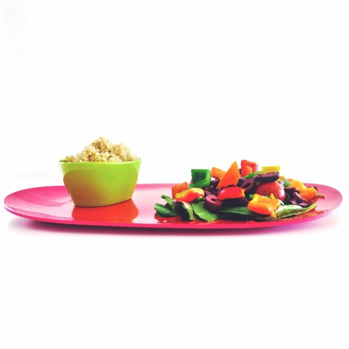 Serviertablett-Bambus-Zykalmen-Farbe-Gemüse-Tapas-Schale