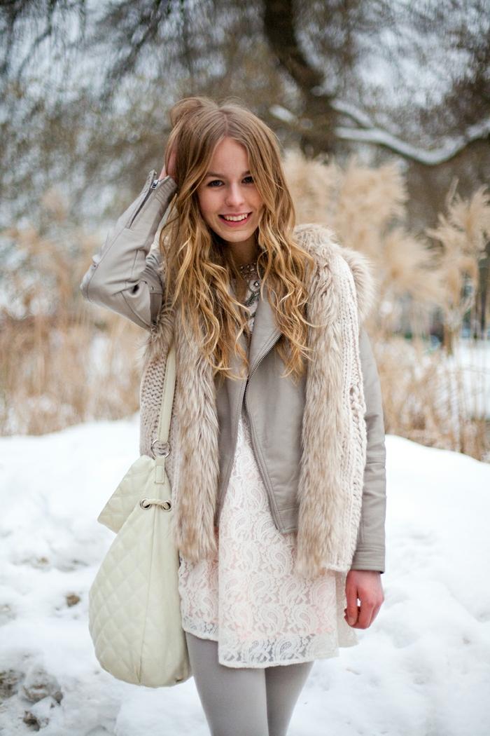 Skandinavishe-Mode-mädchen-graue-Jacke