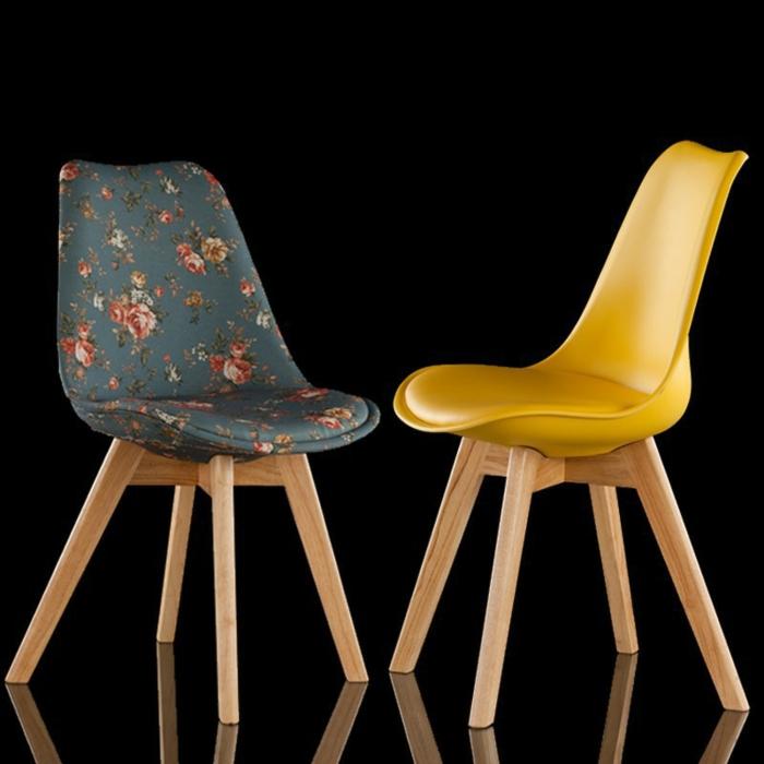 Stühle-Massivholz-gelb-bunt-designer-Modelle