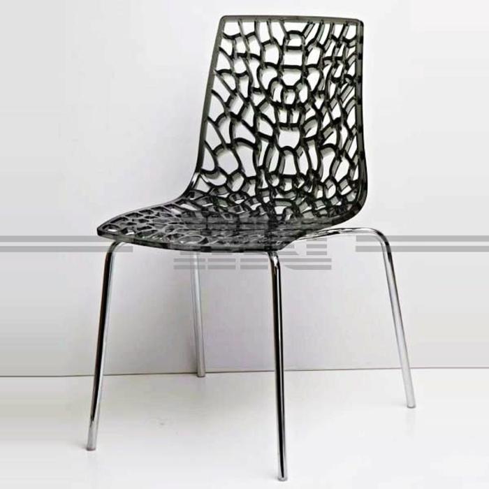 Stuhl-Kunststoff-luxuriöses-Design-schwarz