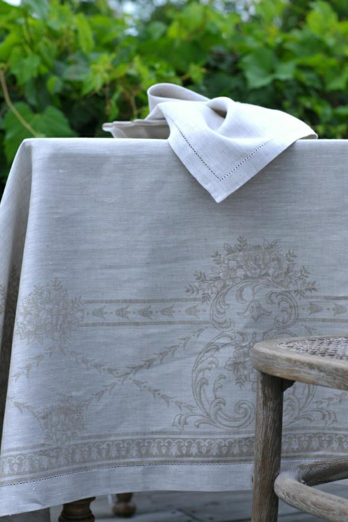 Tischdecke-naturales-Leinen-schönes-Muster