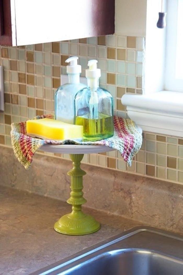 Tortenständer-Flüssigseife-Ständer-Badezimmer-Idee