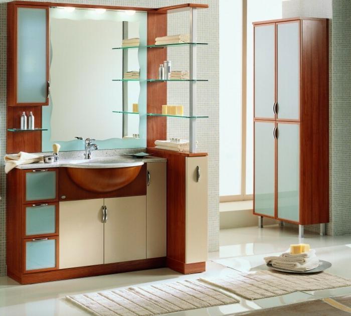 Wandschrank-für-Badezimmer-regalen-hell-glas