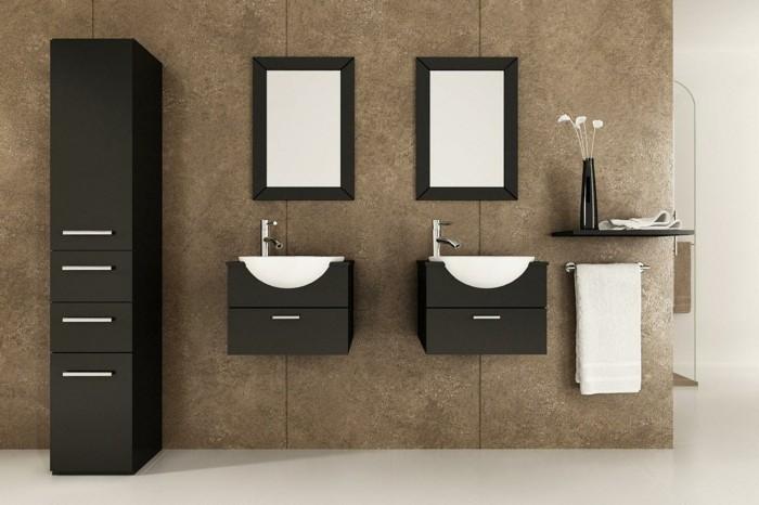 Wandschrank-für-Badezimmer-schwarz-braun-hoch