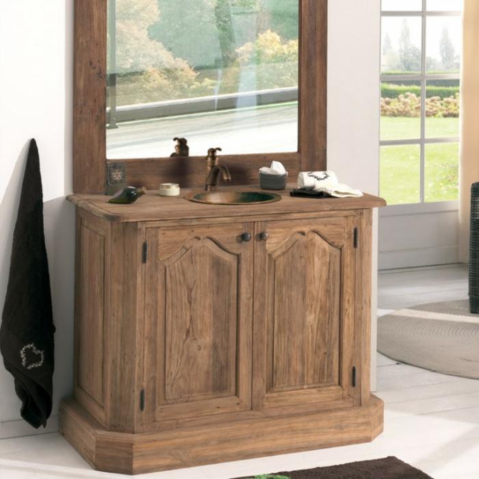 Wandschrank-für-Badezimmer-spiegel-antik-holz
