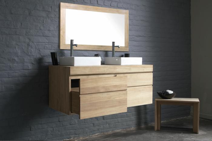 Wandschrank-für-Badezimmer-tischbecken-zwei