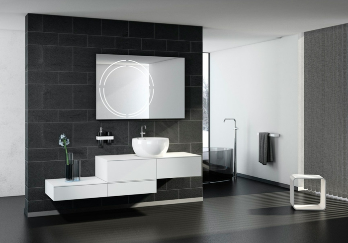 Wandschrank-für-Badezimmerschwarzer-Boden