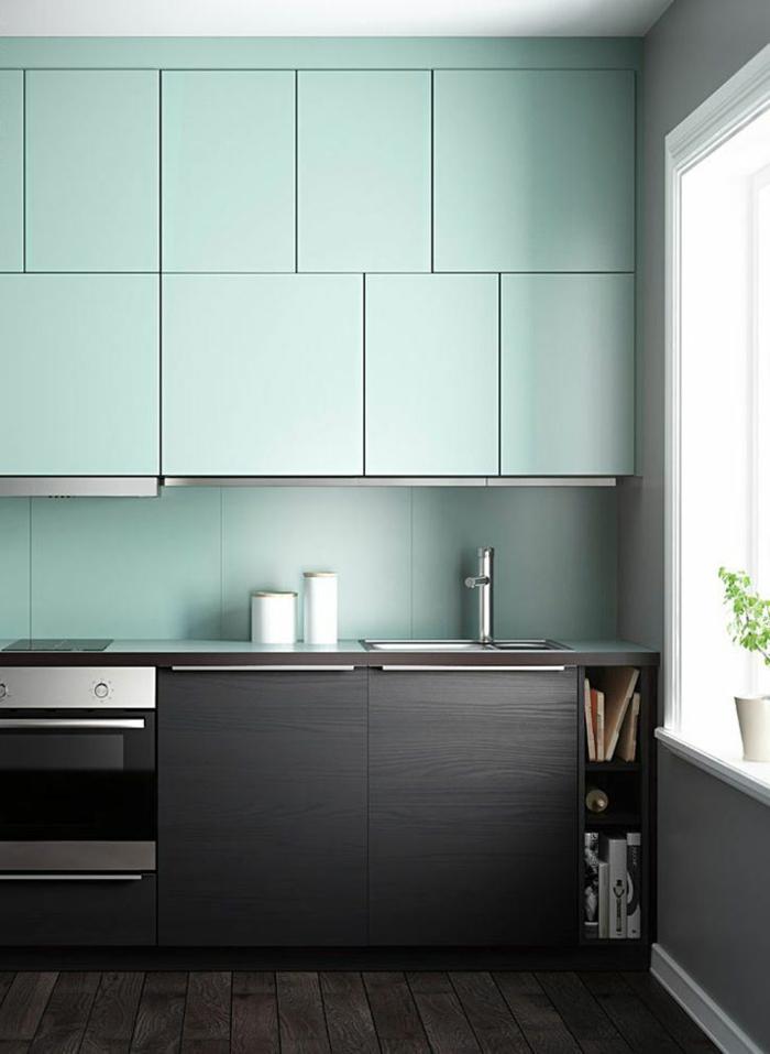 Wandschrank-für-Küche-dunke-modern-grün
