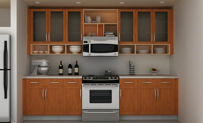 Wandschrank-für-Küche-geschirr-holz-glastüren