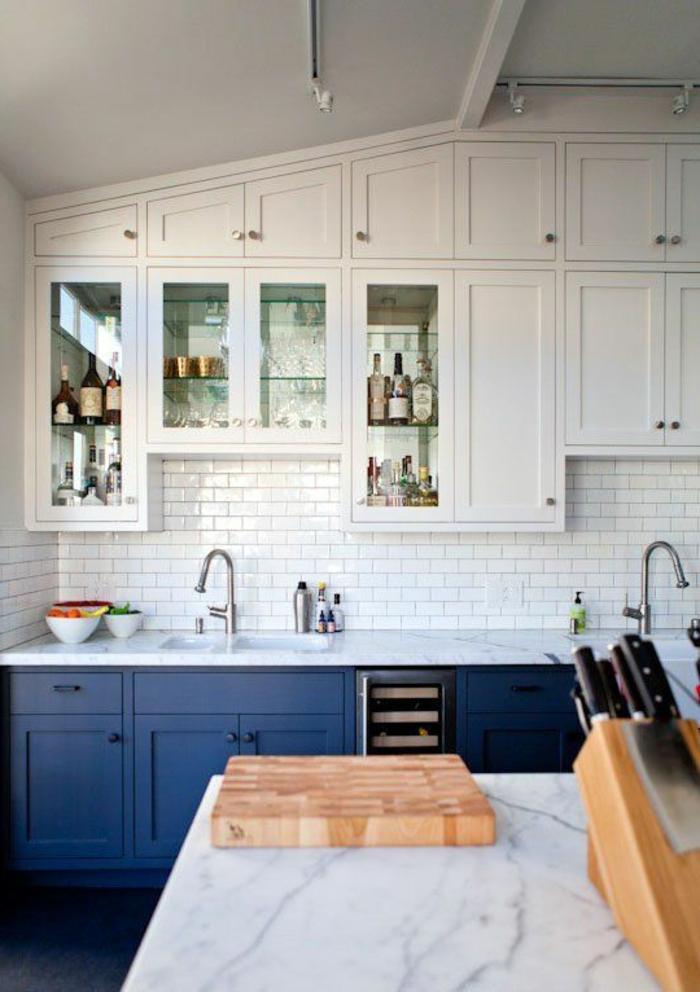 Wandschrank für Retro Küche Glastüren Wandpaneel aus Keramik ...