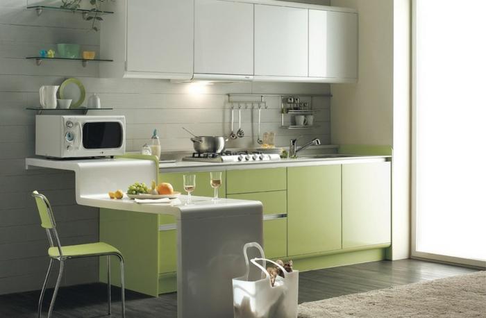 Wandschrank-für-Küche-weiß-und-grün