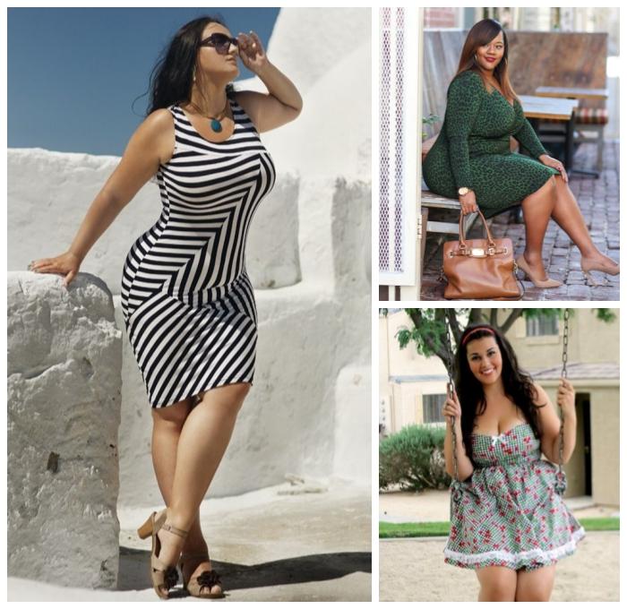kleid in schwarz und weiß, ausgefallene mode für mollige damen, trendige sommerkleider
