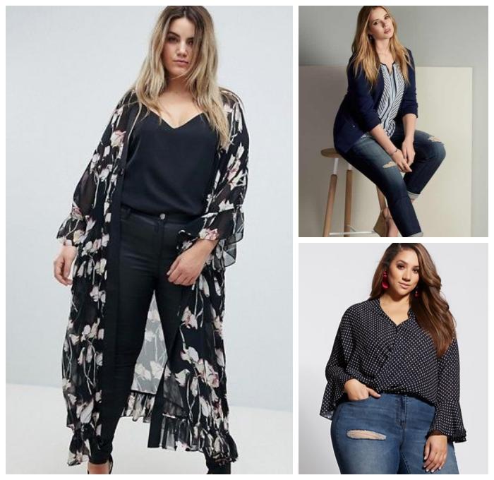 outfit in schwarz, weste aus tüll, ausgefallene mode für mollie damen, keldier für mollige