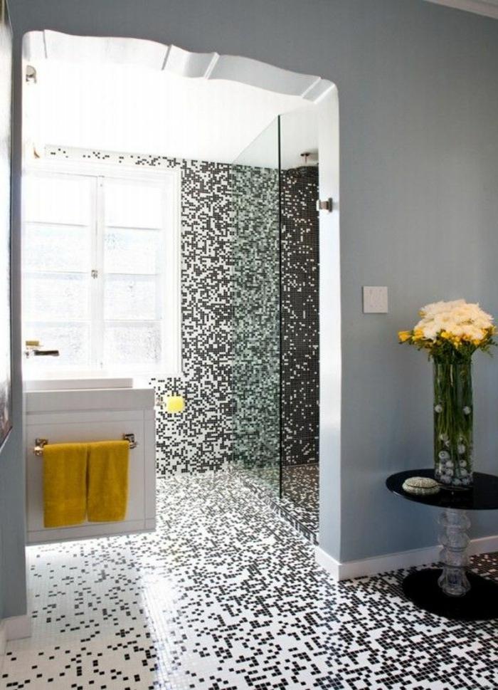 Badezimmer mit mosaik gestalten 48 ideen - Fliesen kombinieren ...