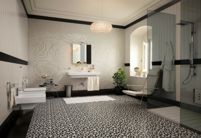 badezimmer mit mosaik gestalten 48 ideen. Black Bedroom Furniture Sets. Home Design Ideas