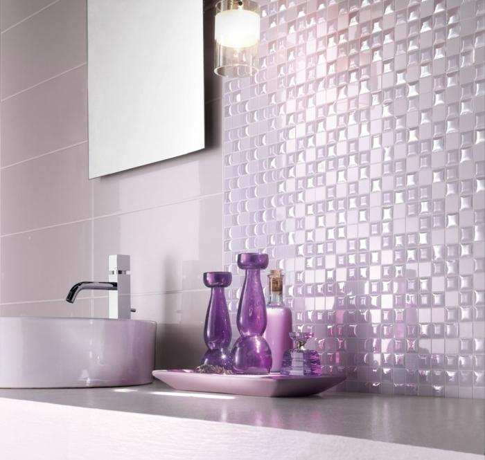 Badezimmer Mit Mosaik Gestalten: 48 Ideen - Archzine.net Mosaik Fliesen Badezimmer