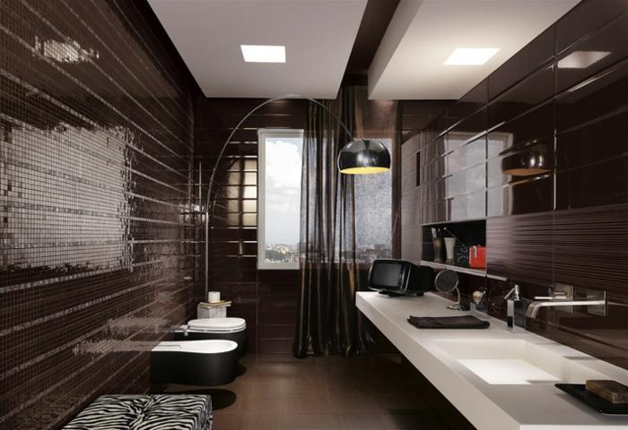 Badezimmer mit Mosaik gestalten: 48 Ideen - Archzine.net