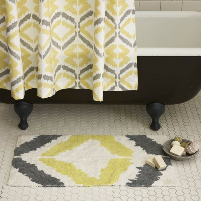 teppich gelb grau. Black Bedroom Furniture Sets. Home Design Ideas