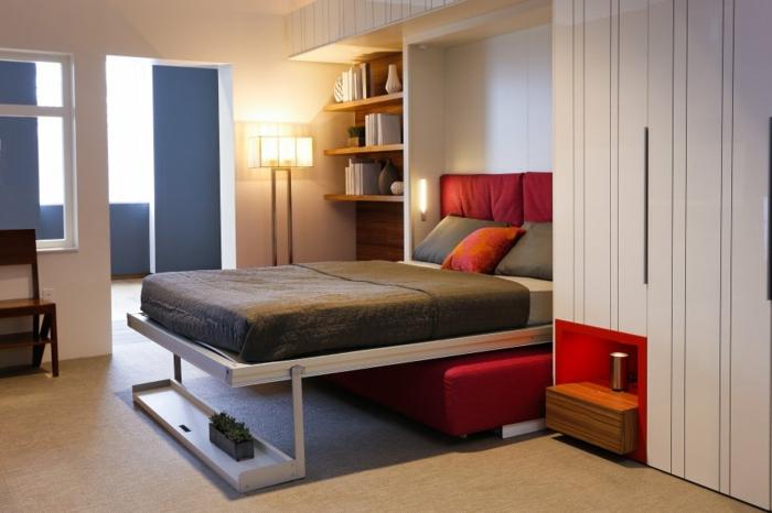 Praktische l sungen f r ihr zuhause bett mit regal - Sehr kleines schlafzimmer ...