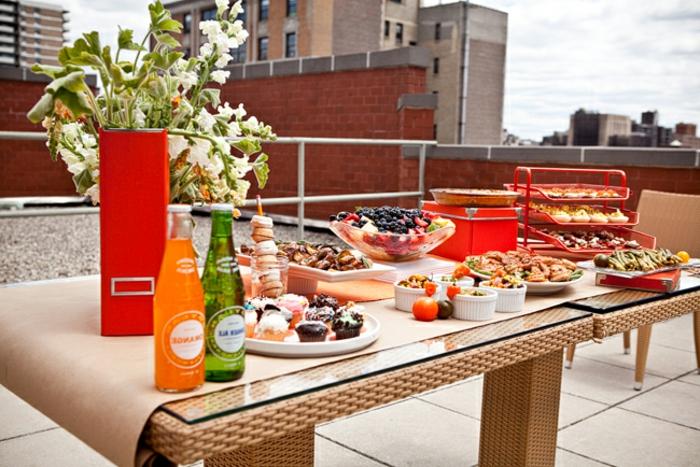 wunderschöne buffet ideen für draußen