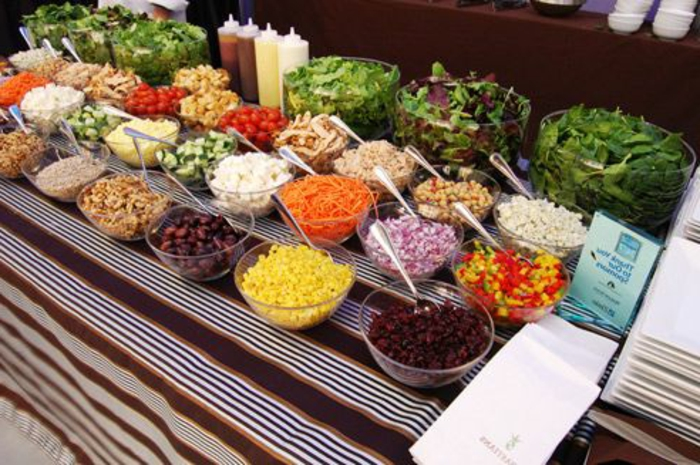 buffet-ideen-verschidene-salate