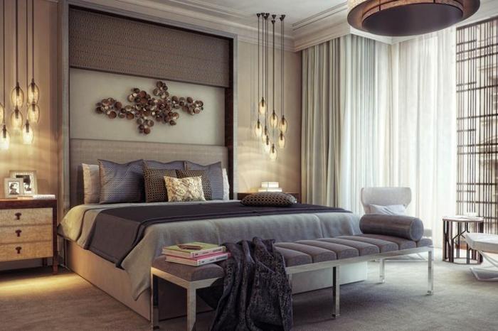 gestaltung schlafzimmer platz bett ideen zur schlafzimmer
