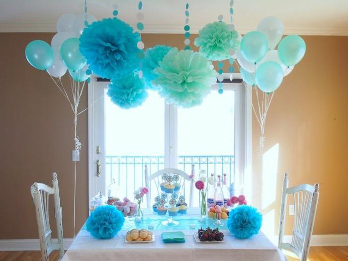 deko ideen für hochzeit - blaue elemente