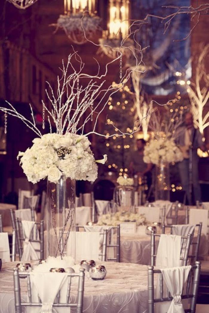 weißer strauß - hochzeit ideen für dekoration