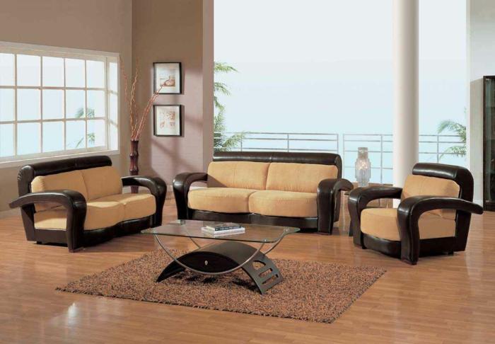 wohnzimmergestaltung braun ein kleines sofa f r eine kleine wohnung archzine - Wohnzimmergestaltung In Beige Braun