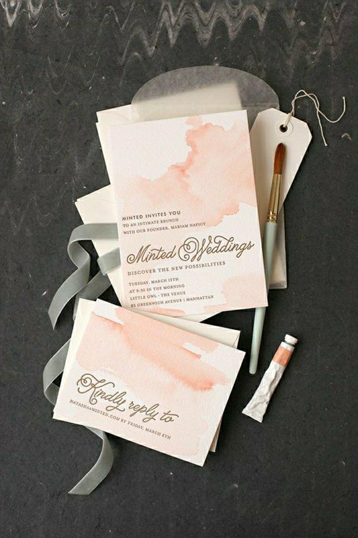 Und es gibt solche Hochzeitseinladungen, die von Klasse und Stil ...
