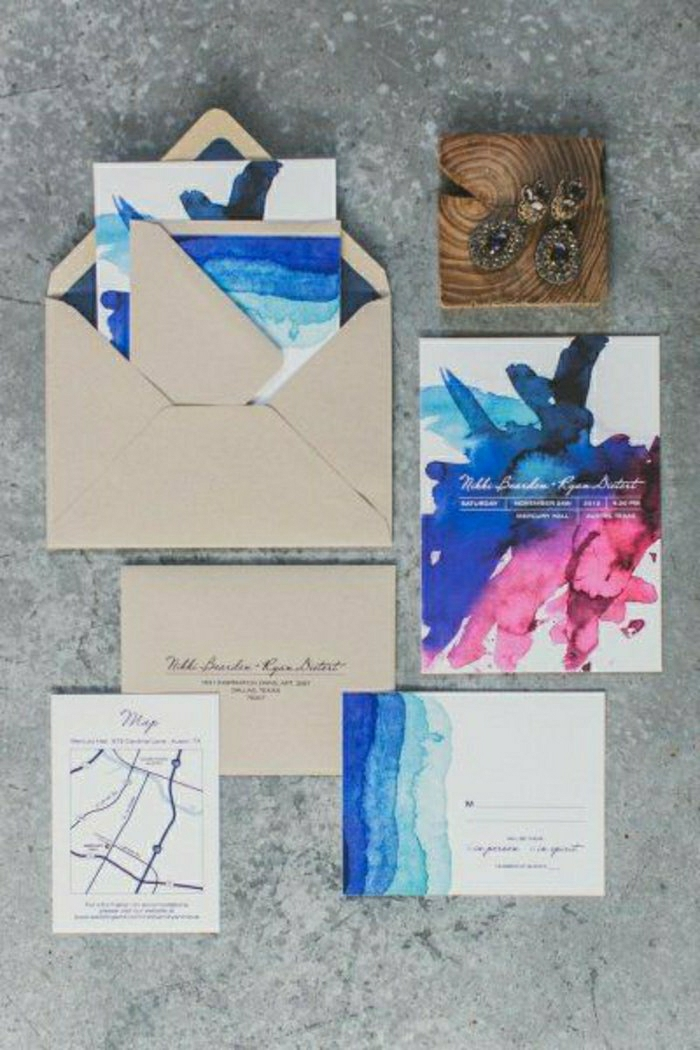 einladungskarten-selbst-gestalten-romantische-Idee-schön-malerisch ...