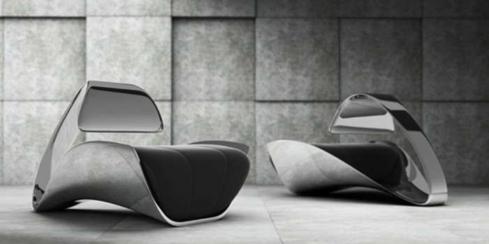elegante-Stühle-Metall-Designer-Modell